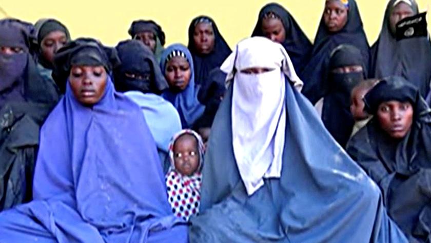Antara mangsa-mangsa yang diculik militan Boko Haram. Imej yang diambil dari video pada15 Jan 2018. FOTO: Boko Haram Handout/Sahara Reporters via REUTERS