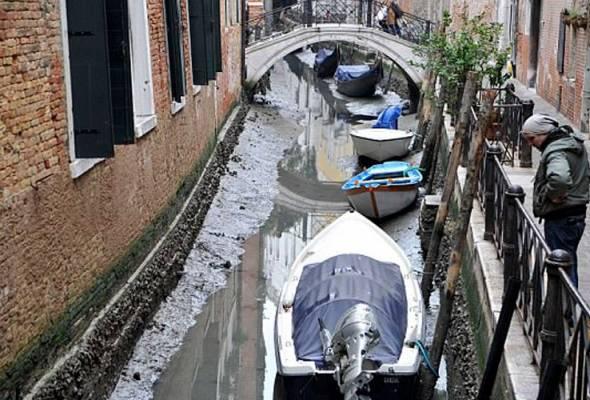 Gerhana 'Super Blue Blood Moon' sebab terusan Venice kering?
