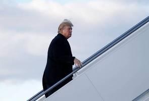 Sisi botak rambut Trump terdedah, ramai pertikai keaslian rambutnya
