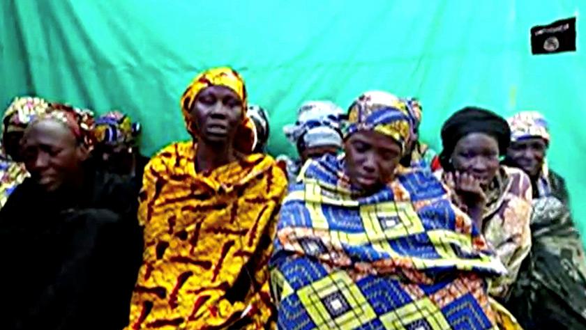 Antara mangsa yang diculik militan Boko Haram. Imej yang diambil dari video pada 15 Jan 2018. - REUTERS