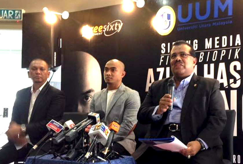 Turut hadir dalam sidang media itu adalah pengarah filem, Raja Mukhriz dan Naib Canselor UUM, Datuk Seri Mohamed Mustafa Ishak. Sumber: Astro AWANI/Siti Nursyazwani