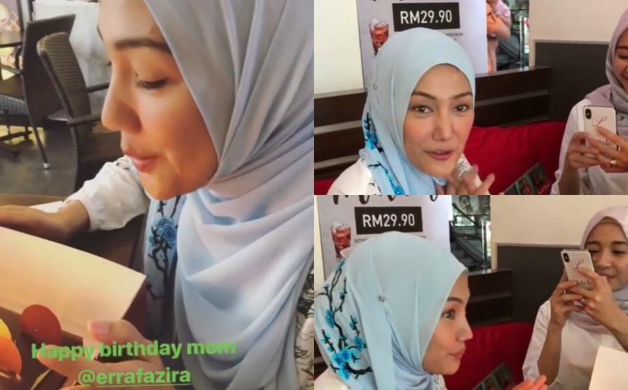 """""""Happy Birthday Mom"""" - Laudya Cynthia Bella sambut hari lahir Erra Fazira"""