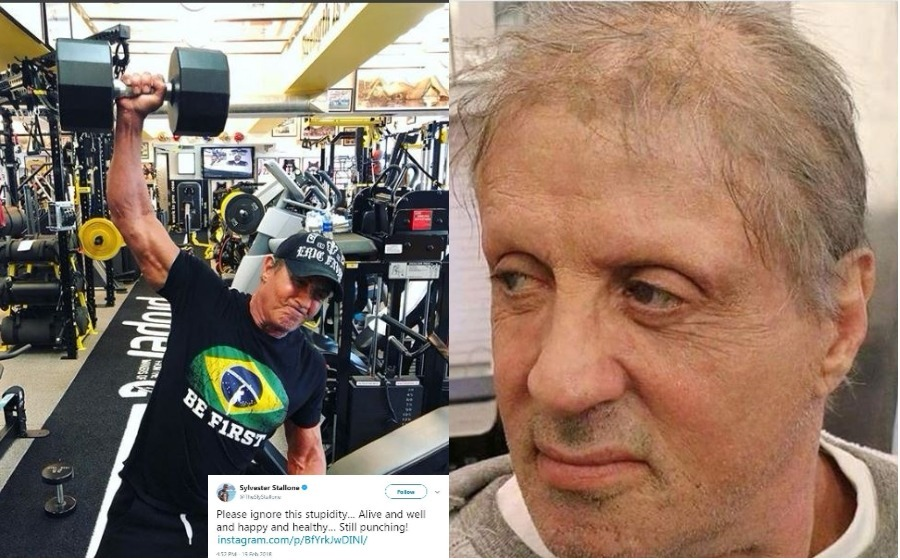 'Siapa cakap saya sudah meninggal dunia? Saya masih hidup dan sihat! - Sylvester Stallone