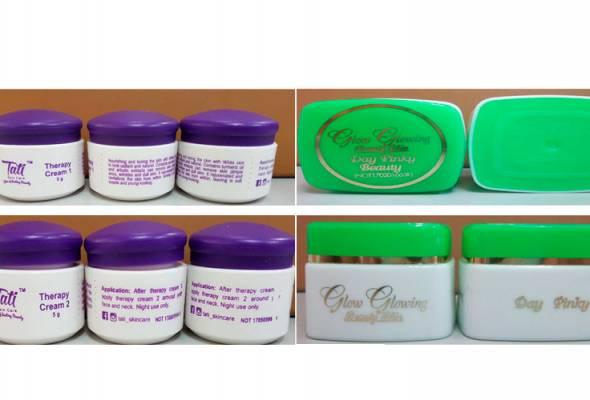 Tiga produk kosmetik dikesan mengandungi racun berjadual