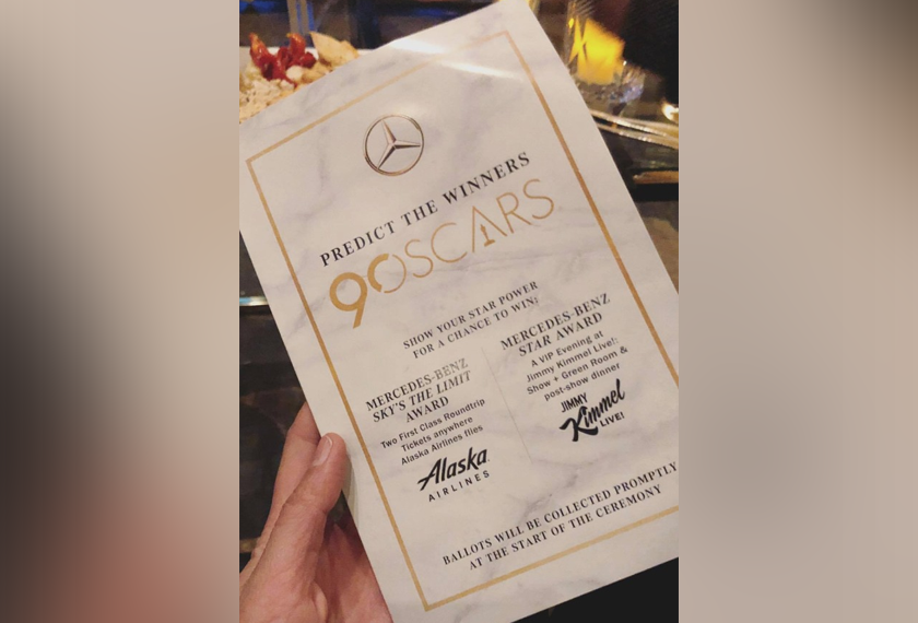 Yuna dijemput untuk hadir dalam 'viewing party' anugerah Oscars anjuran Mercedez-Benz di Hotel Four Seasons di Beverly Hills, Los Angeles pada hari Isnin. Sumber - Instagram @yunamusic