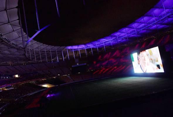 Stadium Nasional bertukar menjadi pawagam mega