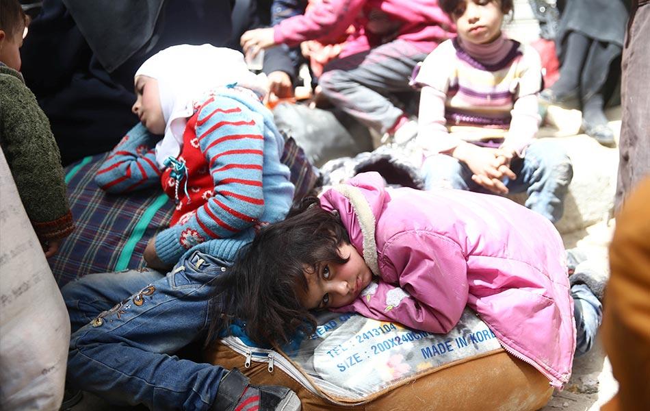 Pelarian, Ghouta, Damsyik, Syria