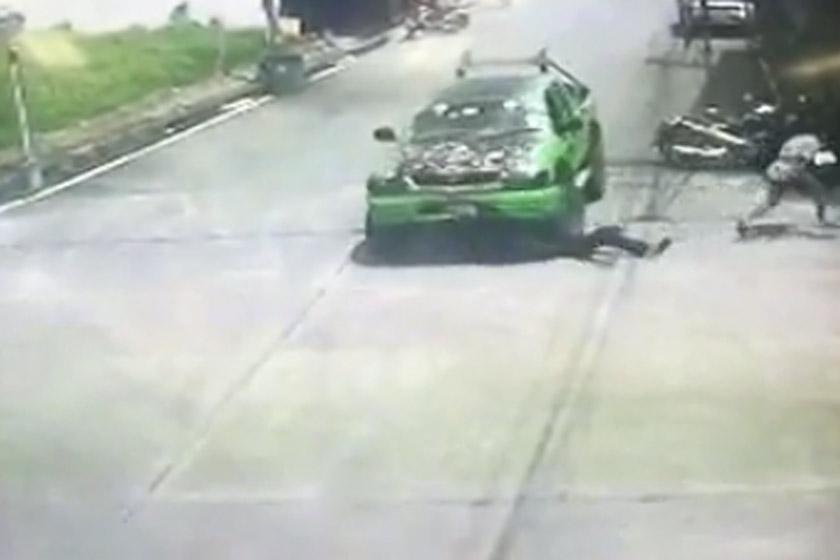 Saroj bertindak melanggar mangsa sebanyak dua kali sebelum melarikan diri menyebabkan mangsa maut di tempat kejadian
