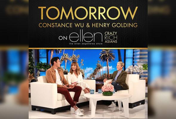 Henry Golding jadi tetamu The Ellen DeGeneres Show