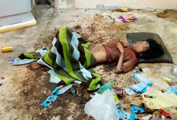 Wanita OKU kelaparan, ditinggalkan bersama najis