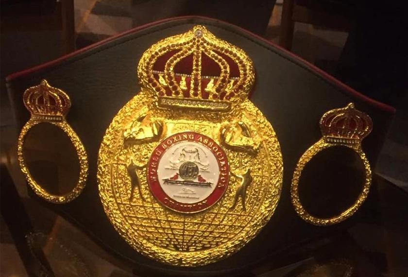 Tali pinggang Kejuaraan Welterweight WBA yang bakal menyaksikan sama ada The Machine akan mempertahankan kejuaraan itu daripada dirampas The Pac Man.