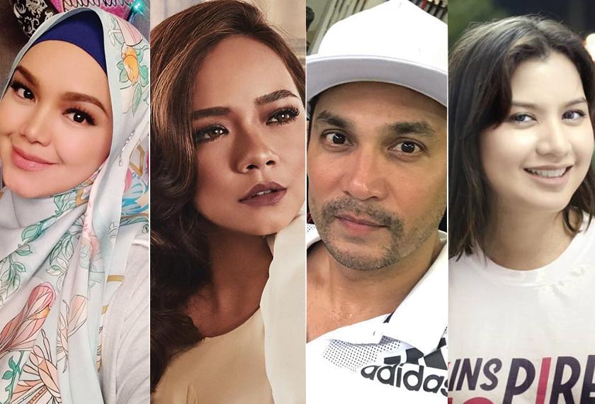Dari kiri Siti Nurhaliza, Nora Danish, Hans Isaac dan Lisa Surihani.
