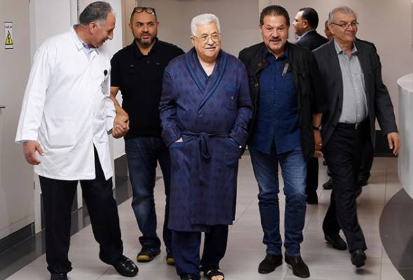 Jangkitan paru-paru, Mahmoud Abbas masih terima rawatan di hospital