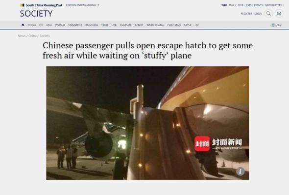 Tak tahan pengap, lelaki buka pintu kecemasan pesawat untuk ambil angin