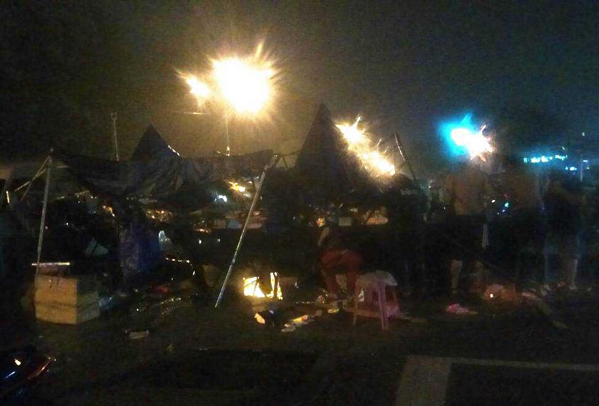 Suasana susulan kejadian ribut di Uptown Bandar Perda.