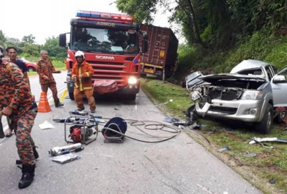 Tiga maut dalam kemalangan tiga kenderaan di Temerloh