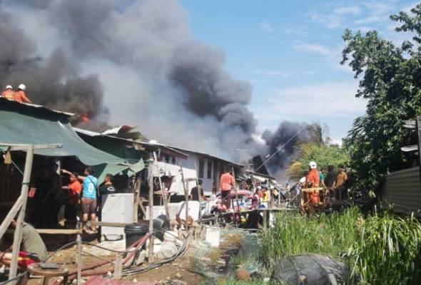 152 buah rumah musnah dalam kebakaran di Likas