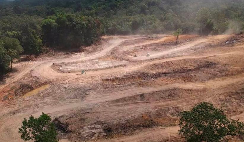 Litar Paya Pulai yang dibuka semula secara rasmi pada 6 Mei lalu setelah dibiarkan sejak lima tahun lepas. -Gambar fail