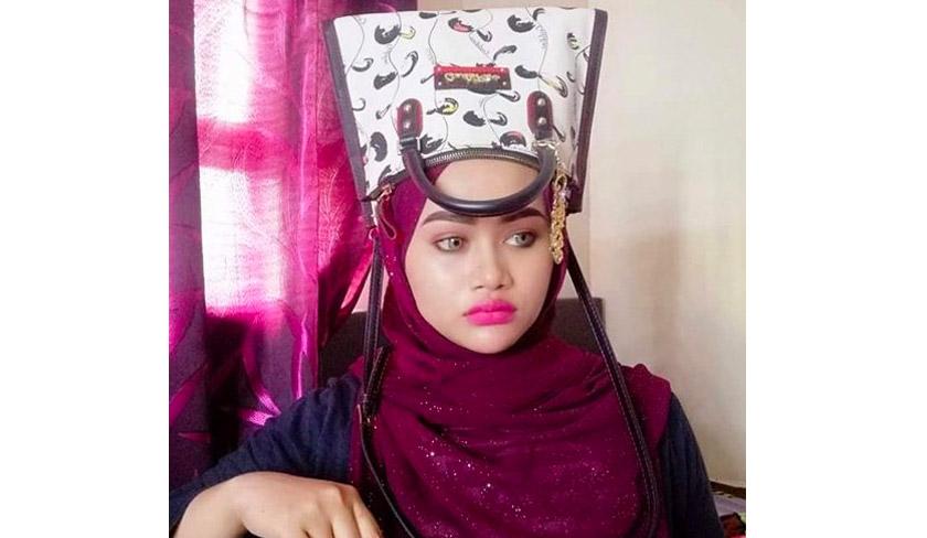 Salah seorang netizen yang memuat naik gambar meniru gaya turban Neelofa di media sosial. - Foto Sinar Harian