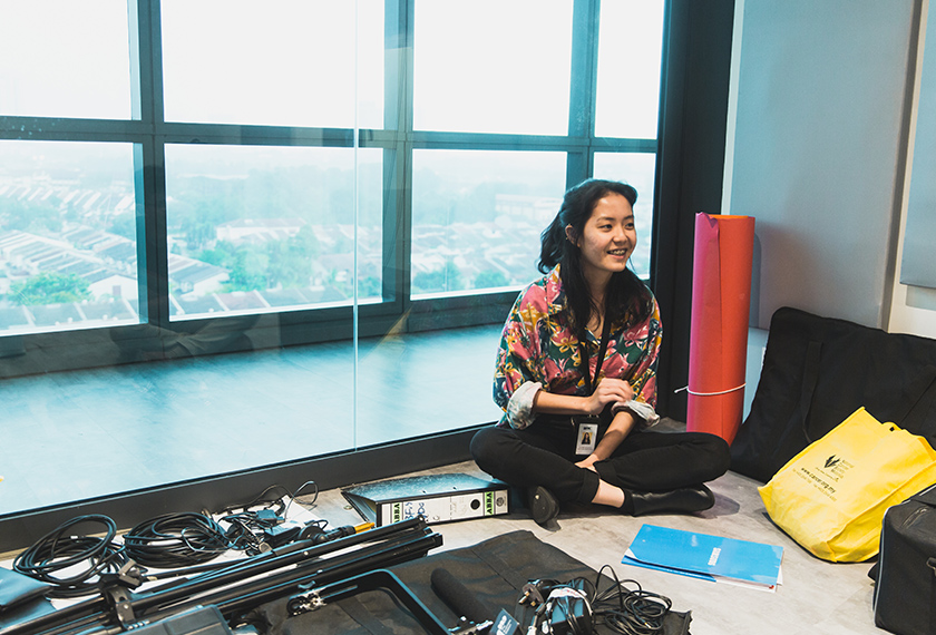 Video Producer Jazmin Sieh – a young member of BFM with two years' experience – is taking a break from her desk where, she was engrossed in editing video content for the following week. Pix by Joe Kit Yong