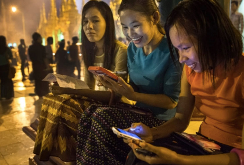 90pc of the population has access to a mobile phone and at least 80pc are using a smartphone. E-commerce companies and telecom carriers are already working with banks to profit from Myanmar's vast potential. Getty Images