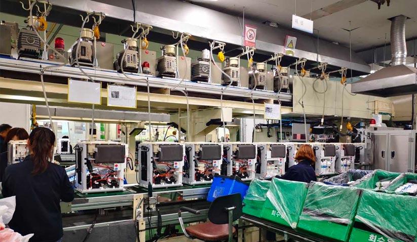 Proses pemasangan dan pengeluaran Ombak di kilang Yugu Coway