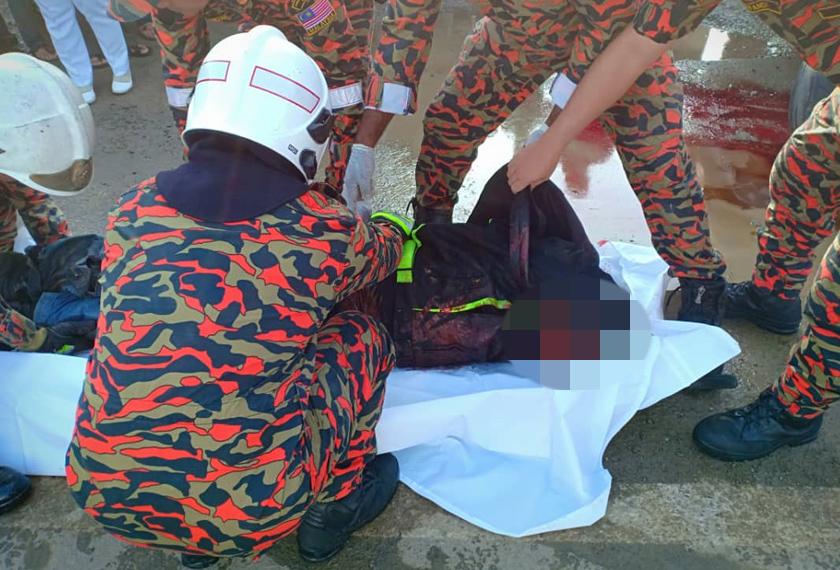Anggota tentera maut selepas terlibat kemalangan di Puncak Borneo di sini.
