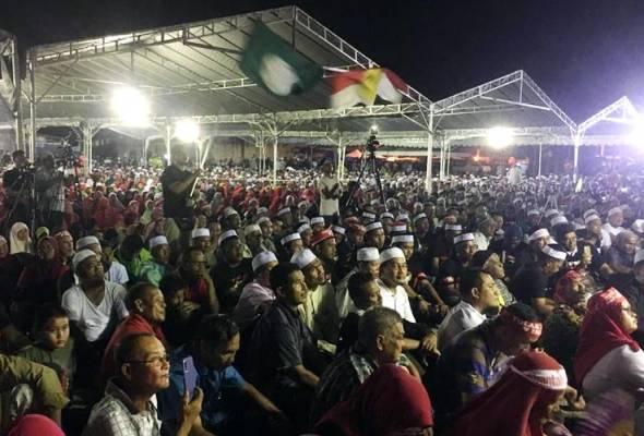 Lebih 30,000 sertai Himpunan Perpaduan Ummah bantah ICERD di Kampung Gajah