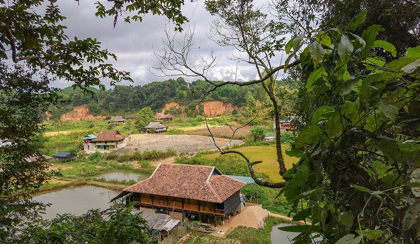 Nga's village of Phuong Loi on the outskirts of the city of Dien Bien Phu. Mai Duong for Ceritalah