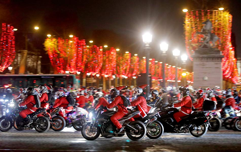 Santa Claus, Chirstmas, Paris,