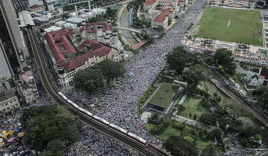 [LAPOR LANGSUNG] 55,000 banjiri Himpunan 812