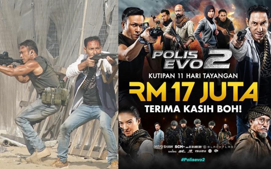11 hari tayangan, Polis Evo 2 raih kutipan RM17 juta