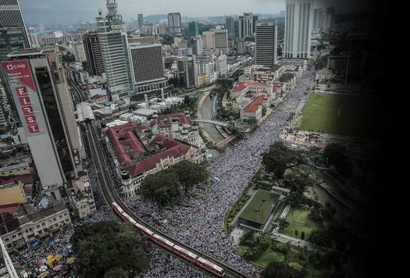 Video 'dron' Himpunan 812: Sesak!