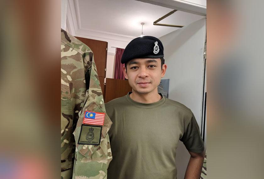 Tengku Hassanal sedang melanjutkan pengajian di Akademi Tentera Diraja Sandhurst, United Kingdom