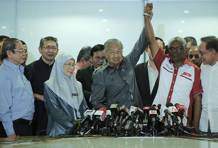 Pemilihan Dr Mahathir juga dikaitkan dengan peranannya dalam Pilihan Raya Umum ke-14 (PRU14) tahun lalu yang membawa kepada kemenangan Pakatan Harapan (PH). - Gambar fail