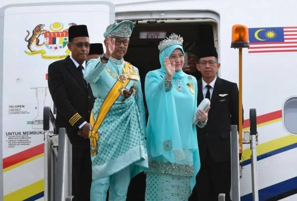 Yang di-Pertuan Agong berangkat meninggalkan Istana Abdulaziz