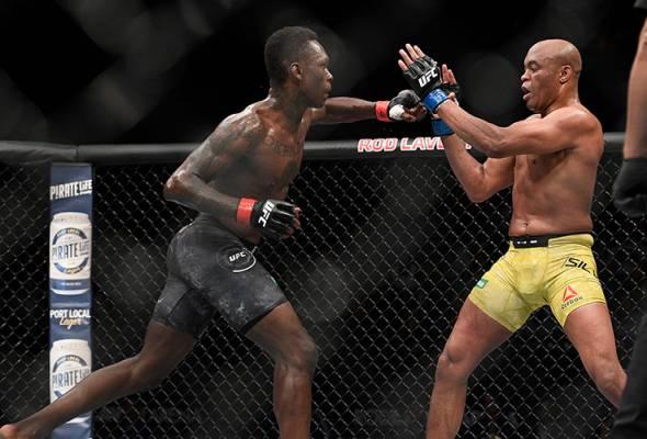 Adesanya tumpaskan lagenda MMA Anderson Silva di UFC 234
