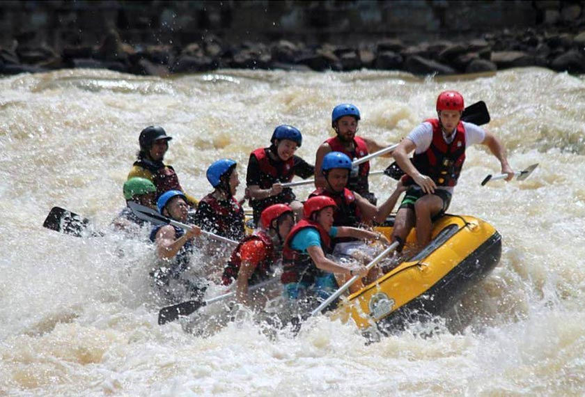 White water rafting is one of Ann's favourite outdoor activities. - Instagram pic/@annosman