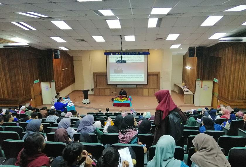 Pertandingan Tilawah Al Quran ini diharap dapat menerapkan nilai murni kepada pelajar dan warga Politeknik Merlimau - Foto AWANI Rangers Politeknik Merlimau