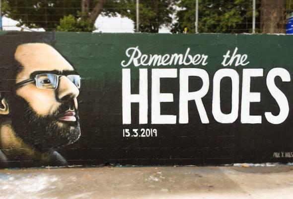 Tragedi solat Jumaat: Wira Christchurch diabadikan dalam mural