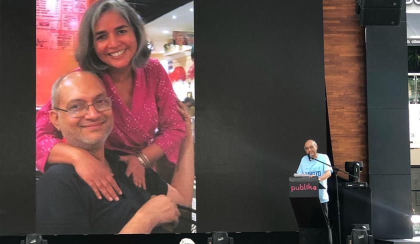 Narendran berkongsi cerita kepada hadirin tentang isteri yang dikasihinya. - Astro AWANI/Fareez Azman