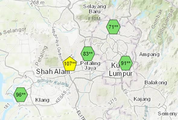 Shah Alam catat bacaan IPU tidak sihat