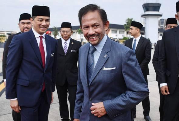 Sultan Brunei berangkat pulang