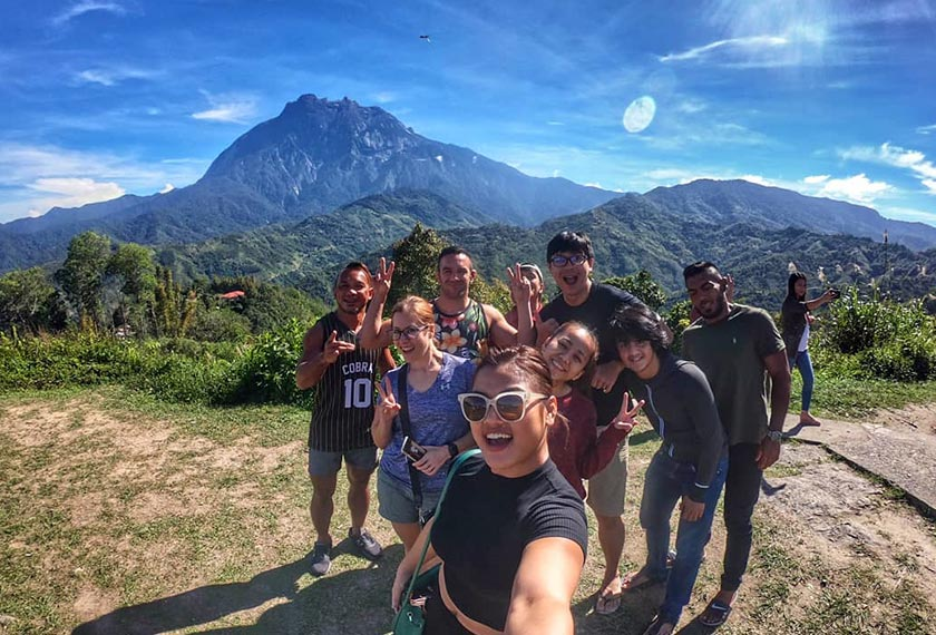 Ann with the fighters from Borneo Tribal Squad MMA. - Instagram pic/@annosman