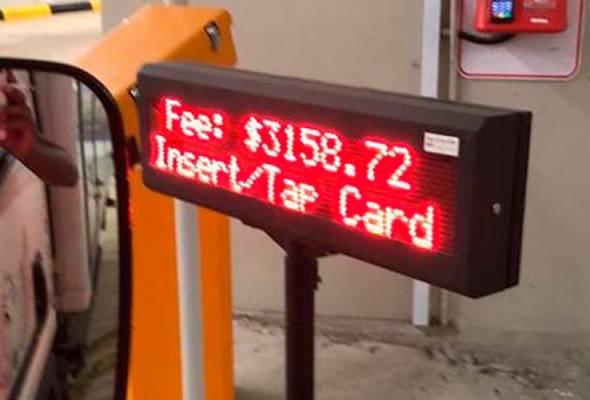 Bayaran parkir lebih RM9,000? Biar betul