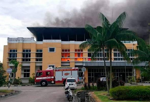 Pejabat Pusat Penyelidikan MARDI terbakar
