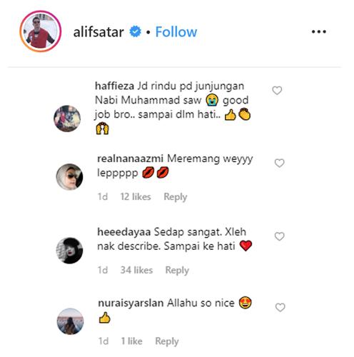 Netizen nyata terpegun mendengar vokal Alif Satar bersama ahli kumpulan Raihan yang terdiri dari Abu Bakar Mohd Yatim, Che Amran Idris dan Amran Ibrahim.