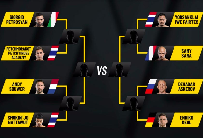 The tournament will bring together eight of the world's best stand-up martial artists. - ONE photo