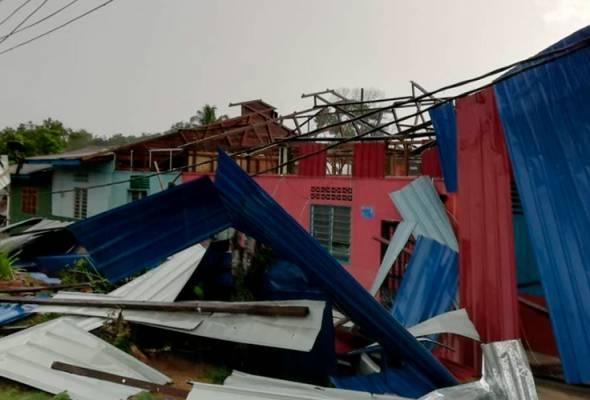 57 rumah rosak akibat ribut di Temerloh