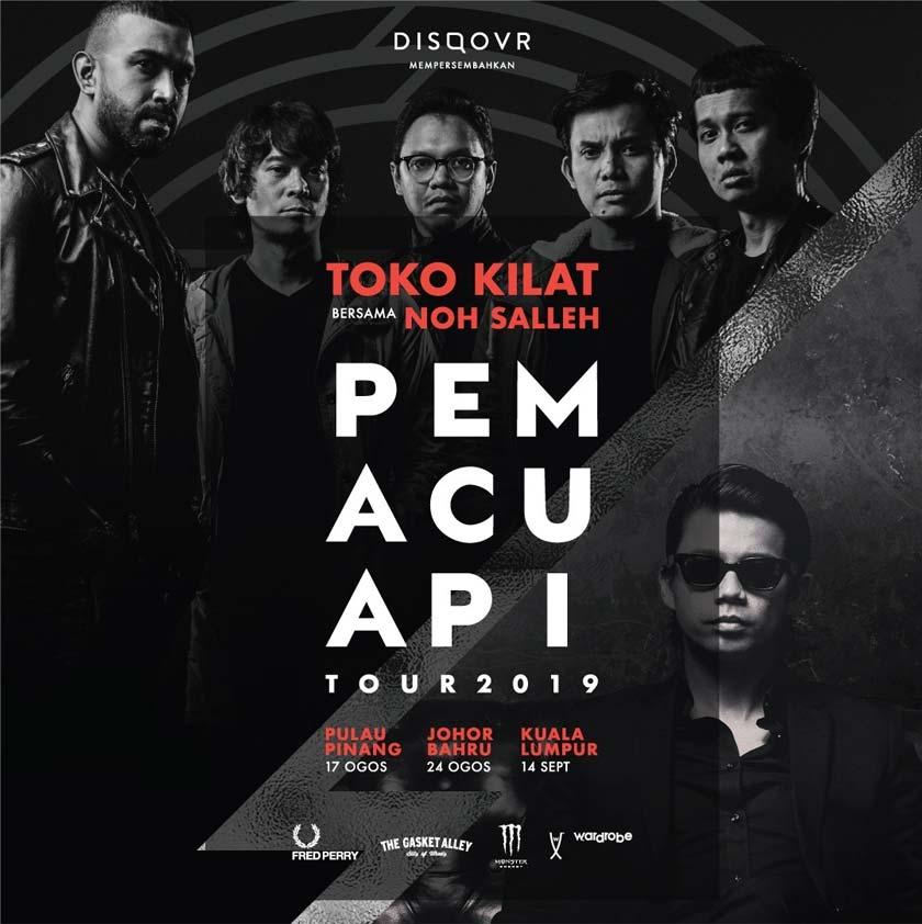 Toko Kilat akan menjelah bersama Noh Salleh untuk Konsert Pemacu Api 2019